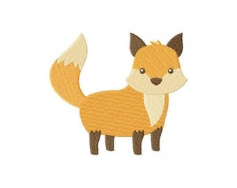 Awesome Standing Fox Machine Embroidery Design