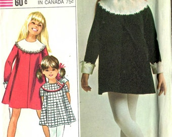 Simplicity 7274 Girl's Dress Sewing Pattern Size 6