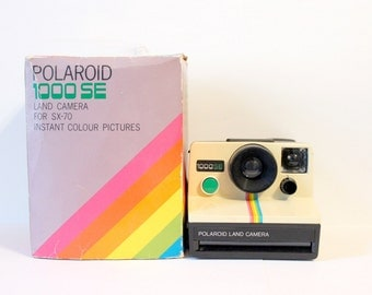 Polaroid 1000SE Land Camera (Rare edition) - green button - Includes original box and original instructions book