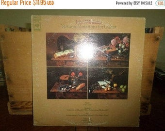 Save 30% Today 1972 Vinyl LP Record Virtuoso Variations for Guitar John Williams Near Mint Condition 4624