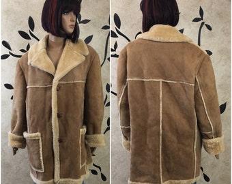 Leather coat, Leather jacket, Long leather jacket, Size 44 coat, Winter coat, Warm jacket, Women's winter coat