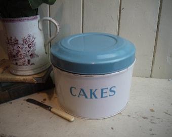 Vintage Tala Cake Tin - Blue and White