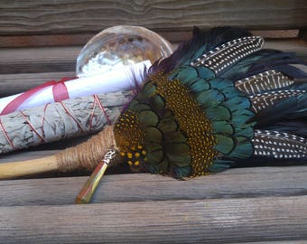 Deluxe Smudge Cleansing Blessing Fan Kit