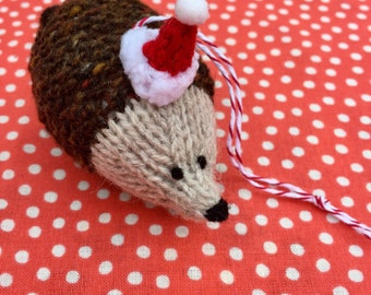 Tweedy Hedgehog hand knitted Christmas Decoration