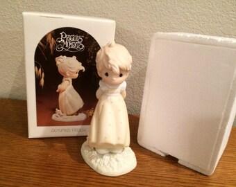 "Precious Moments ""Autumn's Praise"" Figurine #12084, Mint in Box 1984"