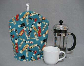 Kitty Kokeshi French Coffee Press Pot Cozy
