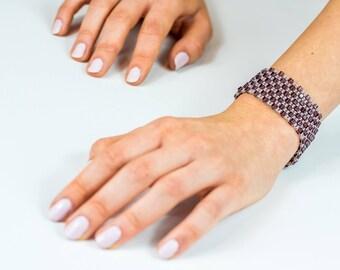 Gift for mom, Purple bracelet, pink bracelet, Beaded Bracelet, special gift  for Her, beaded jewelry, From Israel, Gift for women