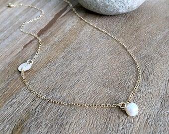 Monogram Initial Necklace pearl choker hand stamped letter monogram jewelry hand stamped letter pearl jewelry initial necklace 14k gold