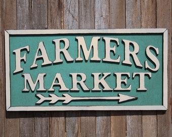 Farmers Market Sign Market Wood Sign Market Sign Farmhouse Decor Sign Modern Farmhouse Farmhouse Style Chic Farmhouse Style Kitchen Decor