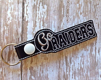 Go Raiders - Key Fob In The Hoop - DIGITAL Embroidery DESIGN