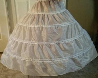 Civil War Reenactment Junior Ladies  (Ball Gown) 3 Hoop Petticoat