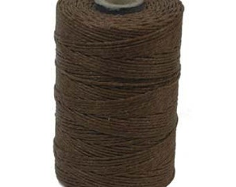 Brown Irish Waxed Linen Cord 4 Ply 50 Gram Spool Approximately 100 Yards