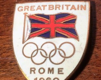 Great Britain Olympic Game NOC Enamelled Badge / Pin 1960 Rome brooch Gift Idea Free Shipping