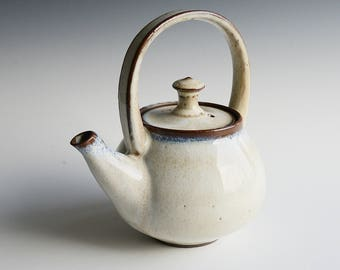 Handthrown teapot in black stoneware