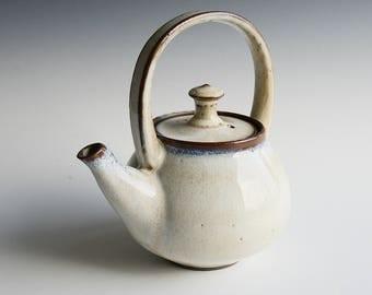 Handthrown teapot in black stoneware