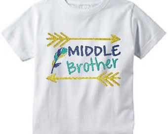 Personalized Sibling Shirts/Family Matching Shirts/Arrows Toddler T-Shirt/Sibling Brother Tee/Middle Brother Shirt/Toddler T-Shirt/Arrows