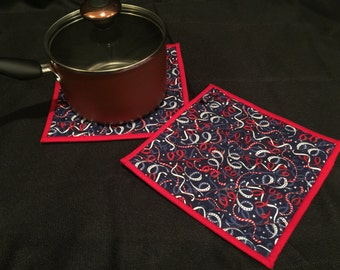 RW&B Quilted, Insulated Pot Holder Set