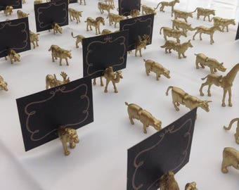 Farm animal Magnetic Wedding place card holders  X 100