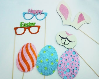 Easter Photo Booth Props 7 Piece