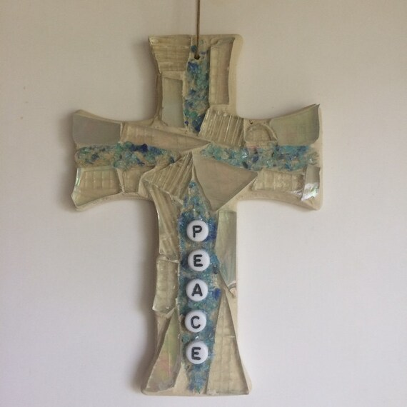 Stained Glass Cross Inspirational Ornaments Hangings Mosaics Art with a Message Made in Hawaii Deesigns by Harris Free Gift Wrap