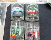 Vintage Hess Toy Truck Collector's Series Glass Set with Hess Advertising Cards