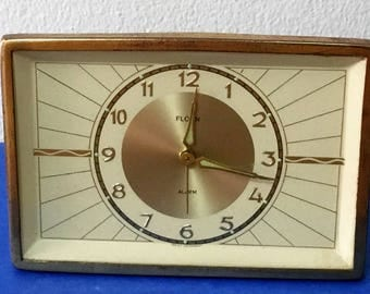 Vintage Florn-West Germany Limited Edition Mechanical Alarm Clock, Desk Top, Works Perfectly