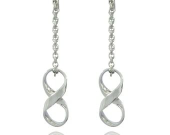 Infinity earrings women silver  925 ON ORDER