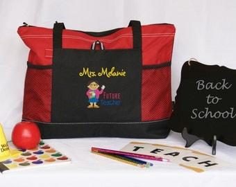 Personalized future  teacher tote bag ,graduation gift, teacher college major