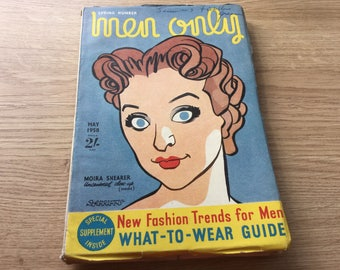 May 1958 Vintage 'men only' Magazine