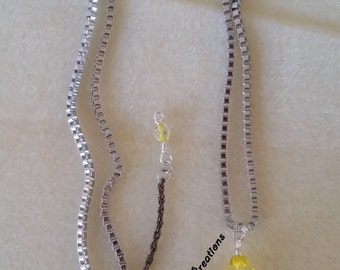 Yellow Butterfly Necklace & Earring Set