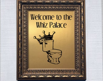 Welcome to the Whiz Palace, metallic print, gold, copper, silver, funny bathroom, leslie knope, parks and rec, parks and recreation
