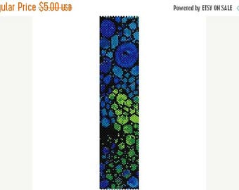 SALE HALF PRICE off Instant Download Beading Pattern Peyote Stitch Bracelet Cool Abstract Seed Bead Cuff