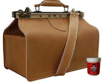 Shoulder bag - Doctors bag ROBERT KOCH brown leather - Made in Germany