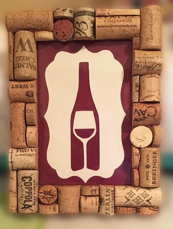 bouchon de vin cadre w art de la bouteille de vin. Black Bedroom Furniture Sets. Home Design Ideas