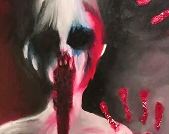 Scary Ghost Fine Art Giclee Print on Canvas Wall Art Horror Wall Decor
