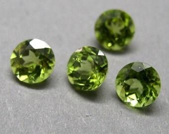 Peridot, olivine, Chrysolite, 2 pair, total. CA. 3.75 ct