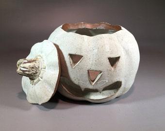 Decorative, Jack O Lantern - Stoneware Ceramic