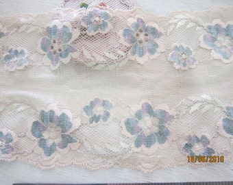 "1 yard- Wide Lace Fabric/NBDL33-6""inches- Vintage Wide Lace/Delicate Wide Lace"