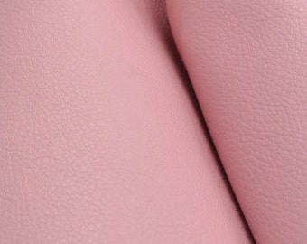 "Charming Pretty Pink ""Signature""  Leather Cow Hide 4"" x 6"" Pre-Cut  2 1/2-3 oz flat grain DE-52164 (Sec. 8,Shelf 6,D,Box 3)"