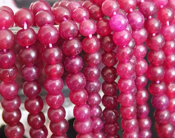 4-5mm Ruby Onyx Round Beads,13 inches Full Strand, Semiprecious Beads Strand, Natural Beads, High Quility Handmade Stones