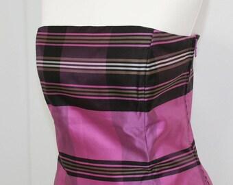 Ann Taylor Strapless Silk Corset Top Vintage 1990s