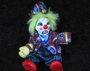Evil Clown, Evil Clown, Creepy Clown, Scary Clown, OOAK, Haunted Clown, Haunted House Clown, Horror Clown Doll