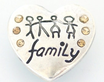 Ginger Snap Style Celebrate Family Snap Charm Chunk Perfect for Valentine's and  Mother's Day