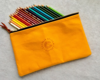 Henry - Canary yellow Pencil case