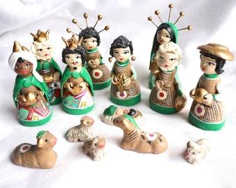 Mexican Nativity Creche Display