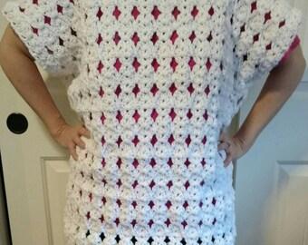 White sweater tunic