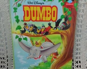 Vintage Dumbo Walt Disney Book Vintage Childrens Book Vintage book Kids Book Dumbo Book Children Reading Stories Kids Books