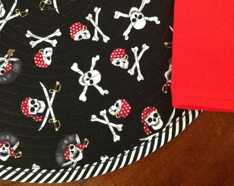 Reversible Round Pirate Placemats, Gasparilla, Sets of 2