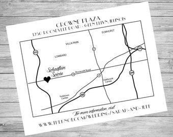 Wedding Directions Card | Custom Printable File