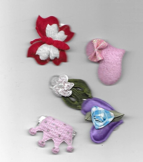 SALE! Puppy Bows ~ dog hair snap clips all assorted variety flowers butterflies all colors